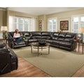 Simmons Upholstery Bingo Brown Motion Sectional