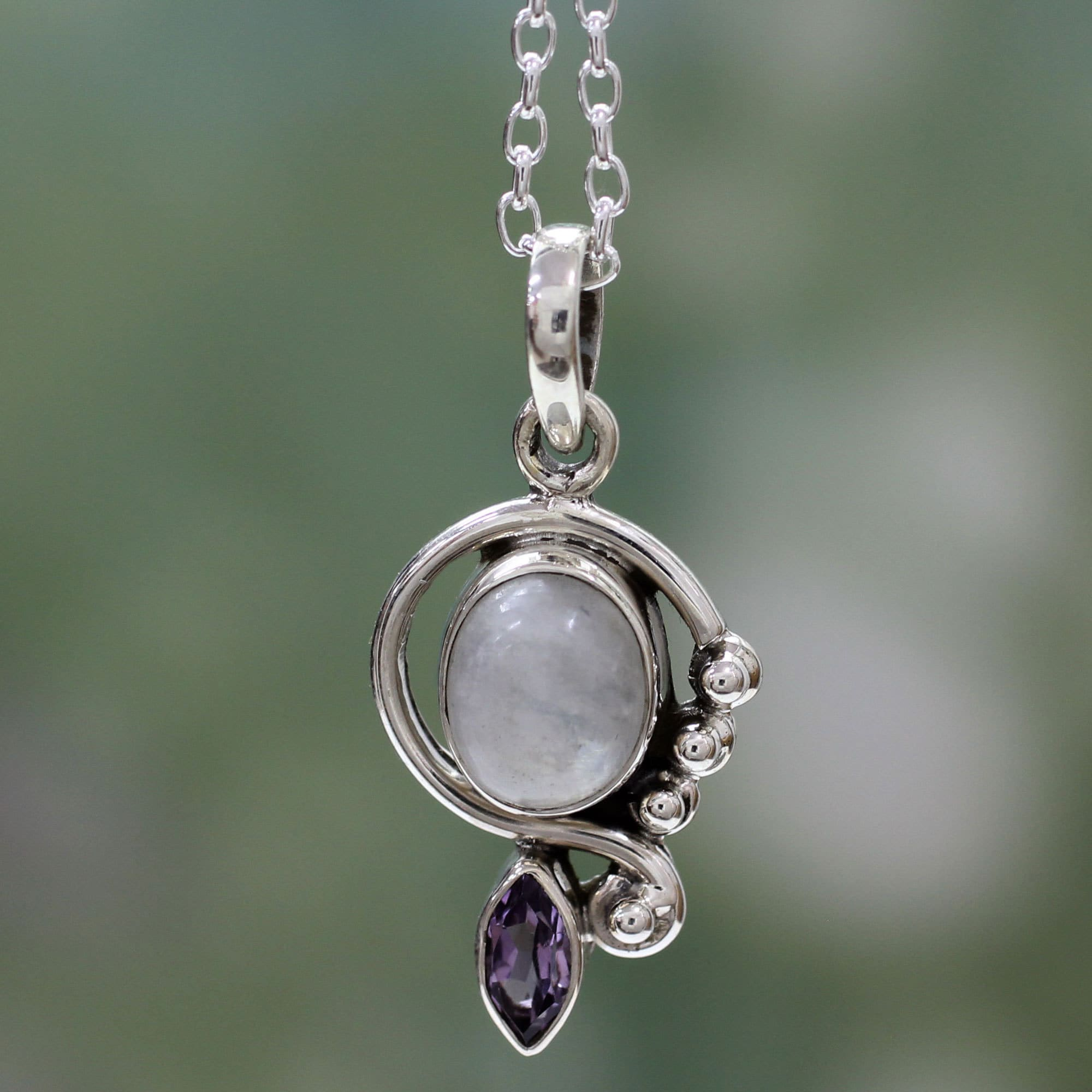 pendant celtic crystal vaults stone moon s moonstone