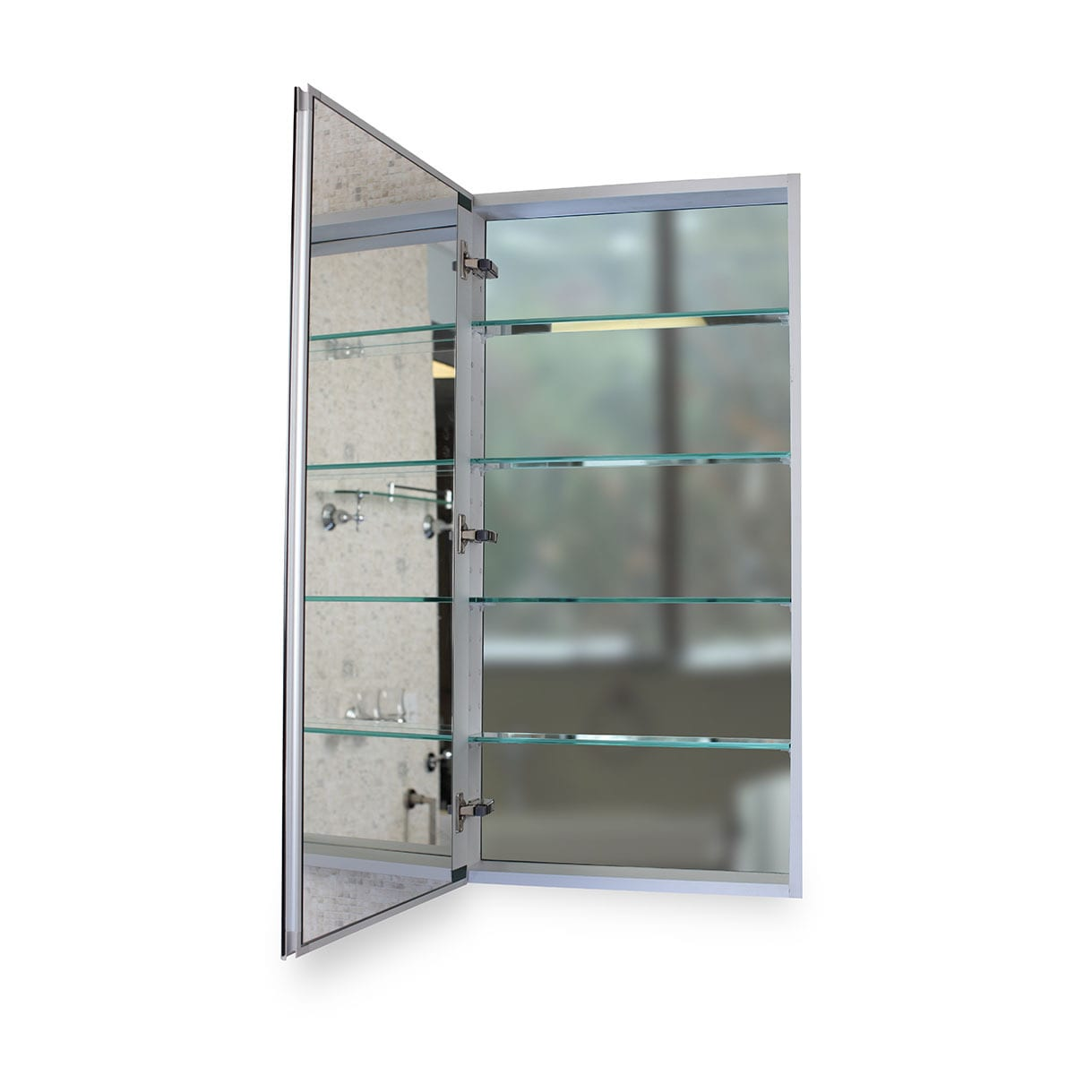 Shop Flawless 24x40 Medicine Cabinet With Blum Soft Close Door Hinges    Mirror/Aluminum   Free Shipping Today   Overstock.com   11416603