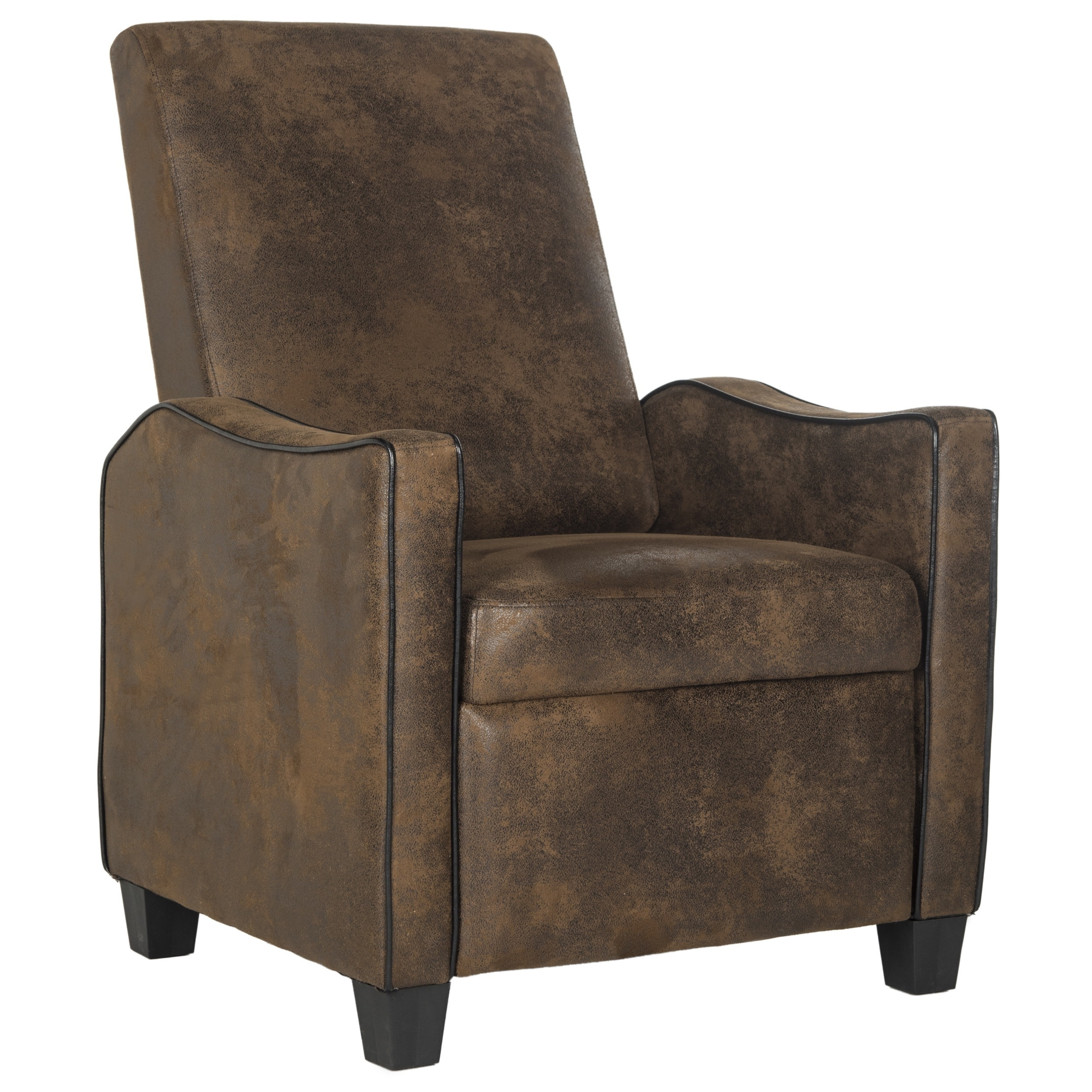 Superbe Shop Safavieh Holden Vintage Brown Recliner Chair   Free Shipping Today    Overstock.com   11417018