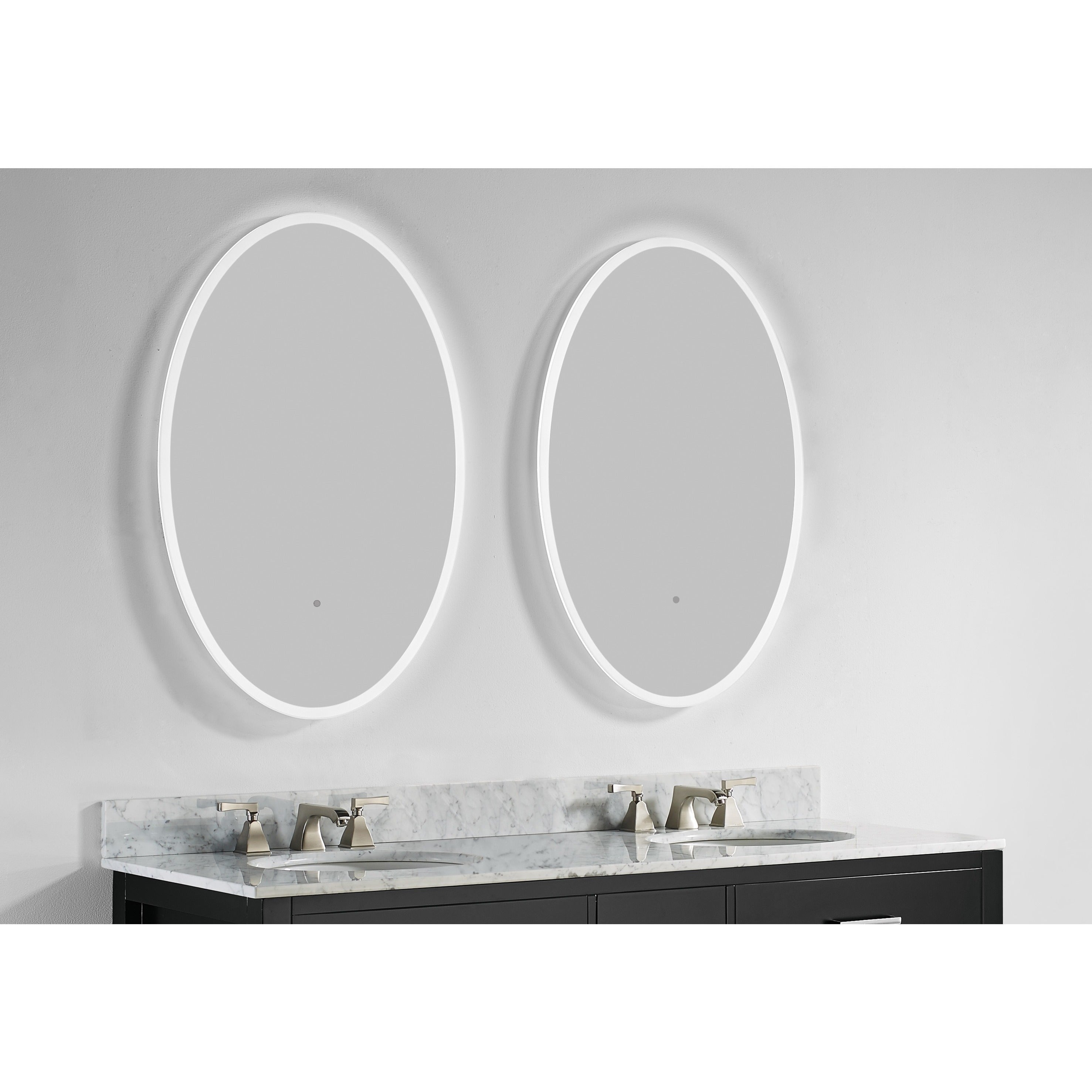 Innoci-USA Round/ Oval Electric LED Mirror - Free Shipping Today ...