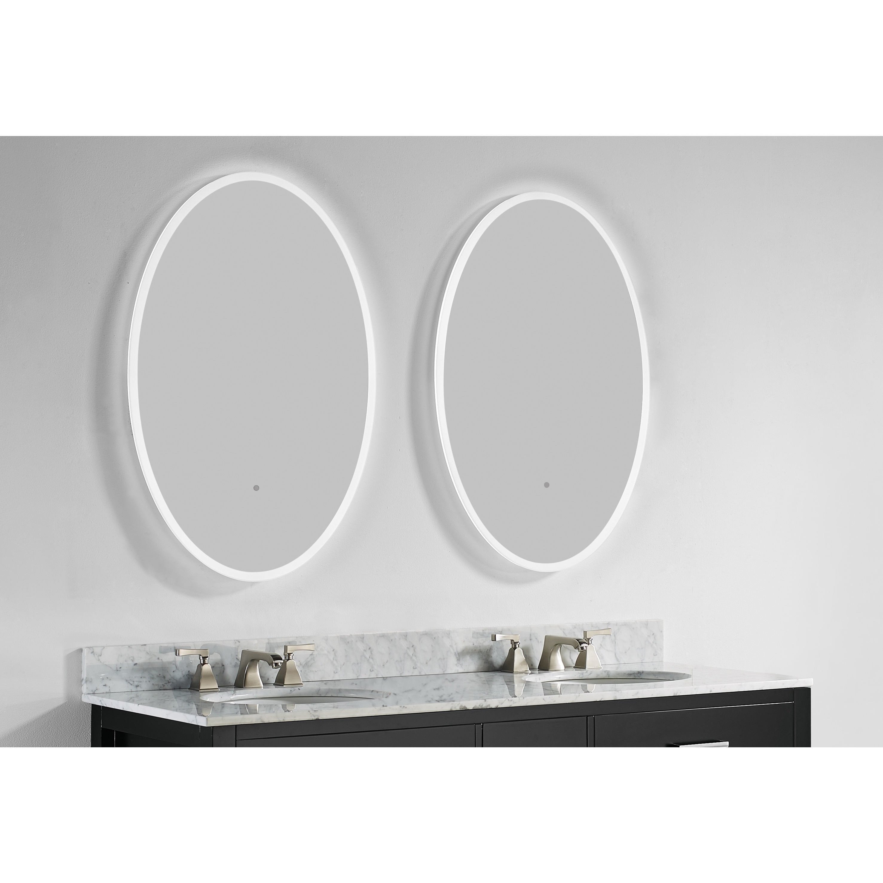 Shop Innoci-USA Round/ Oval Electric LED Mirror - Free Shipping ...