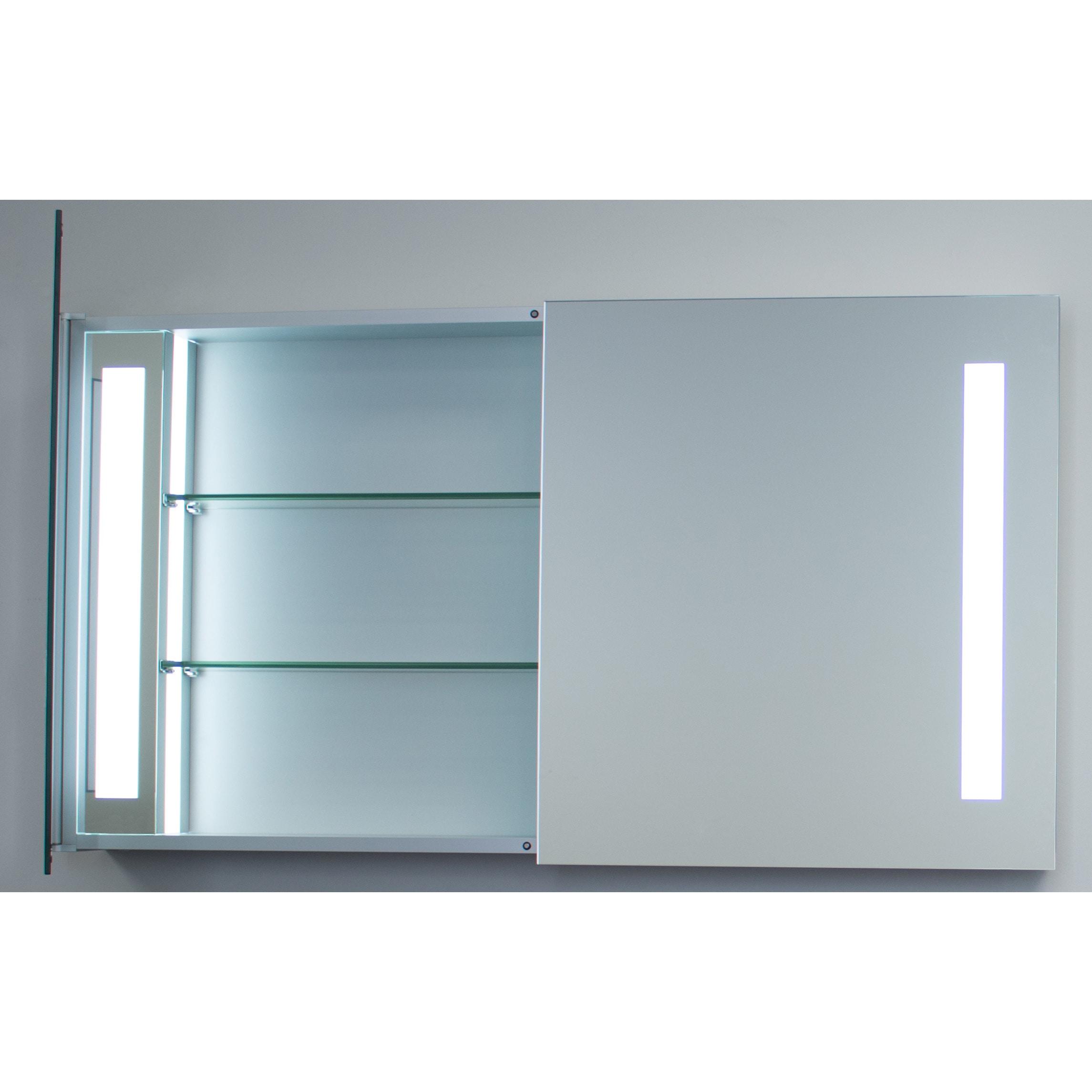 Shop Innoci-USA Zeus LED Double Door Wall Mount Mirrored Lighted ...