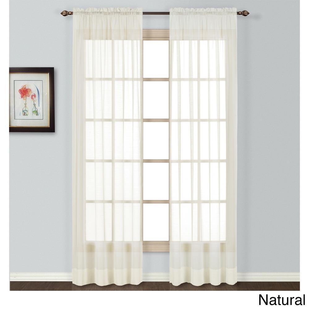 Shop Neutral Semi Sheer Batiste Woven Single Curtain Panel