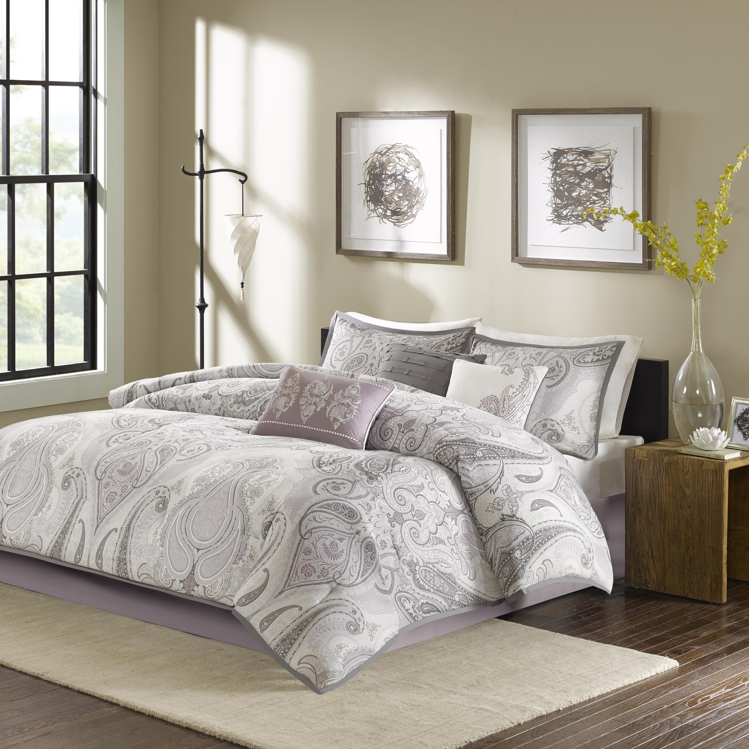 Madison Park Morena Purple Cotton Comforter Set - Free Shipping ...