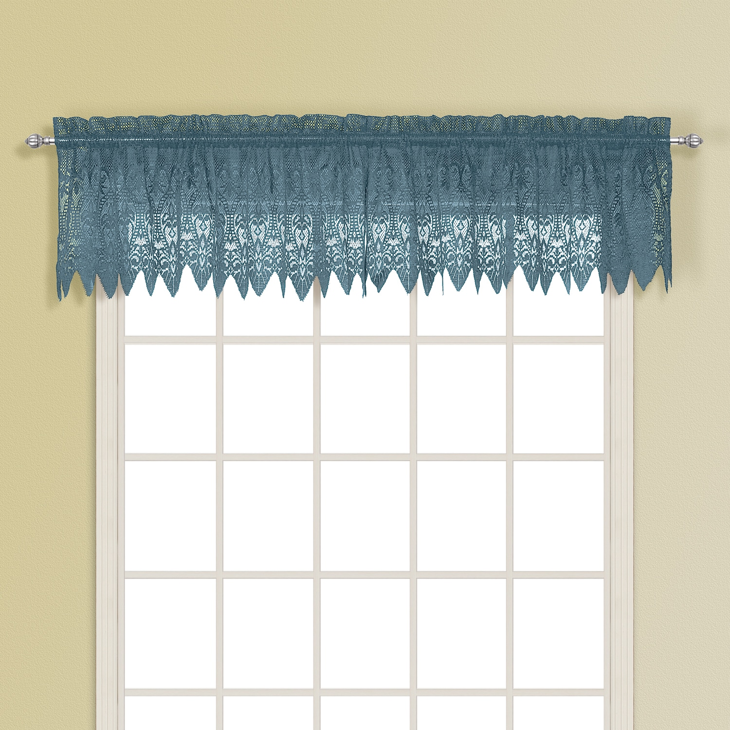 Valerie Macrame and Sheer Voile Kitchen Tiers and Toppers - Free ...