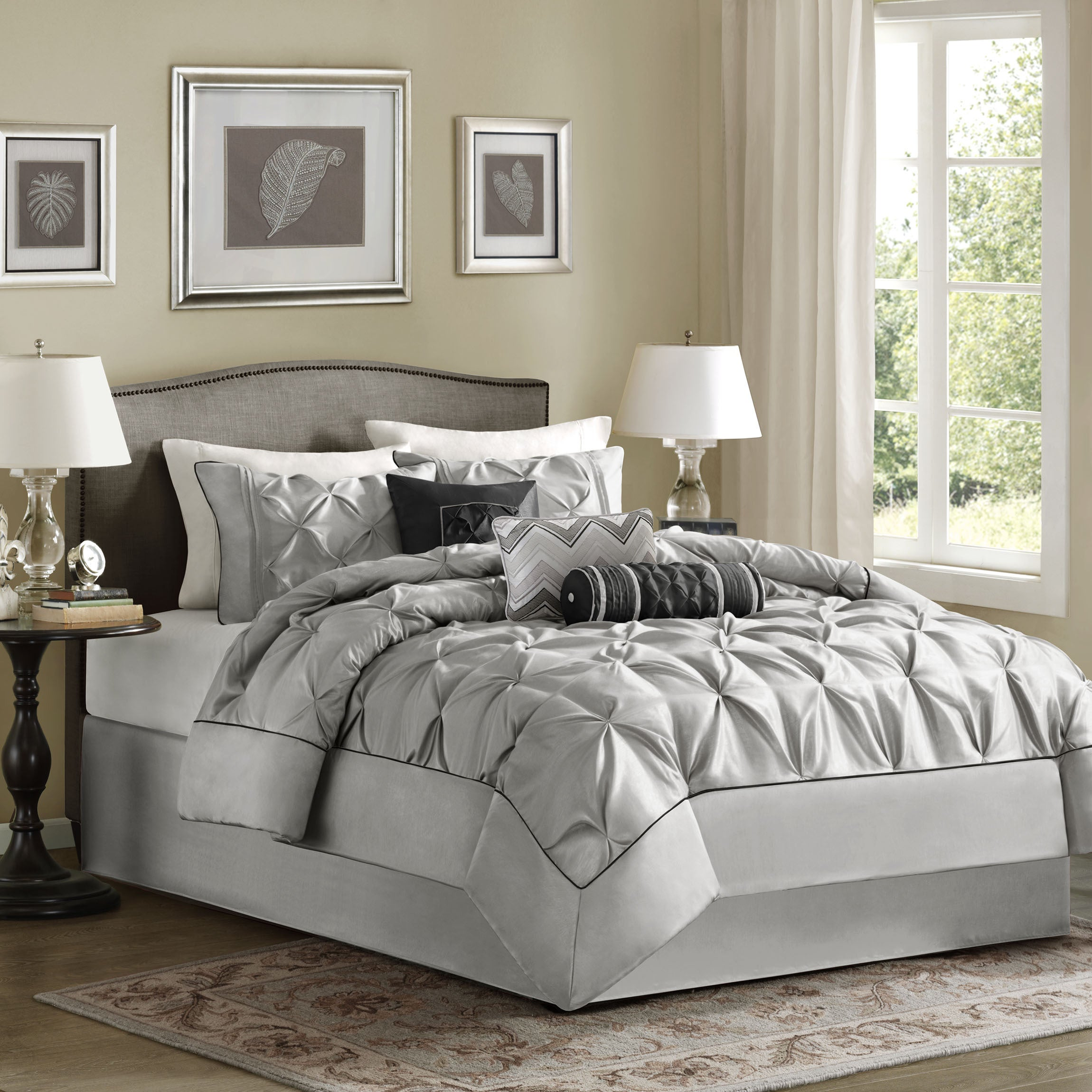 rpisite dark bedspread bed com comforter sets comforters furniture grey charcoal light gray