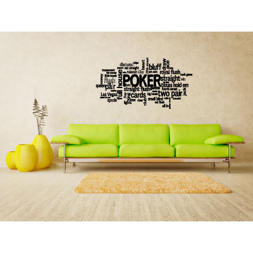 Shop Poker Title Wall Art Sticker Decal - Free Shipping On Orders ...