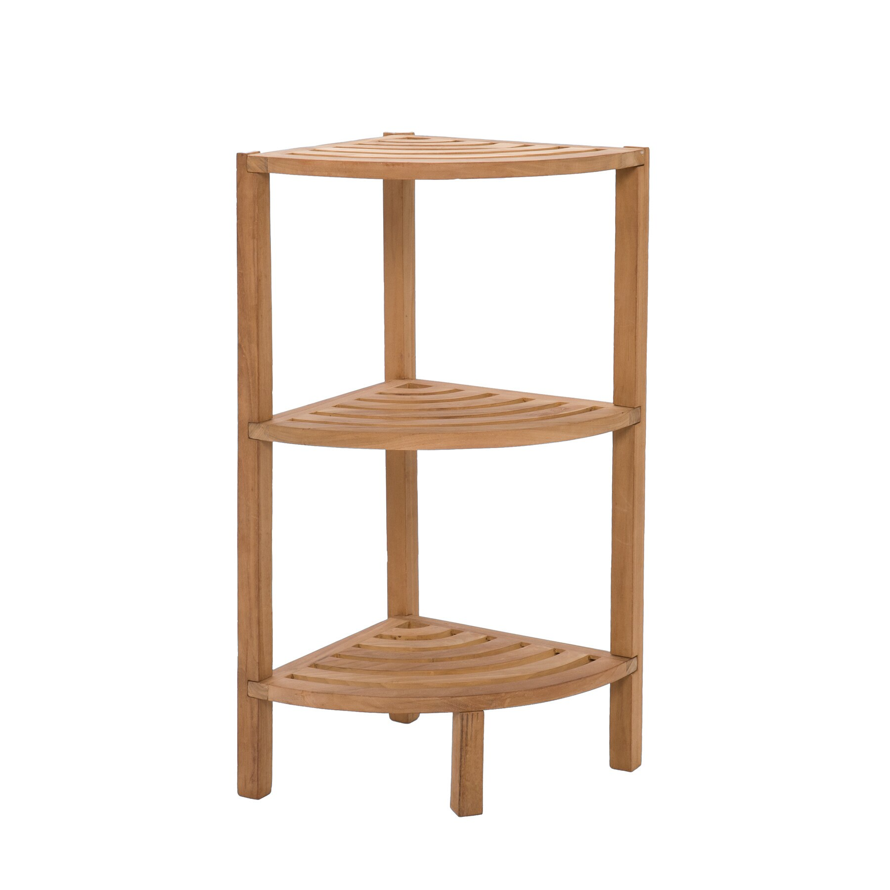 Spa Teak 3 Tiered Corner Shelf  Free Shipping Today