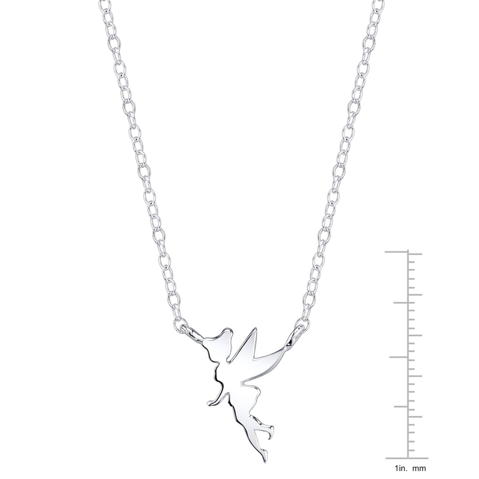 Shop disney sterling silver tinkerbell necklace free shipping on shop disney sterling silver tinkerbell necklace free shipping on orders over 45 overstock 11422001 aloadofball Gallery