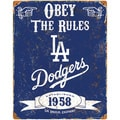 Los Angeles Dodgers Embossed Metal Sign