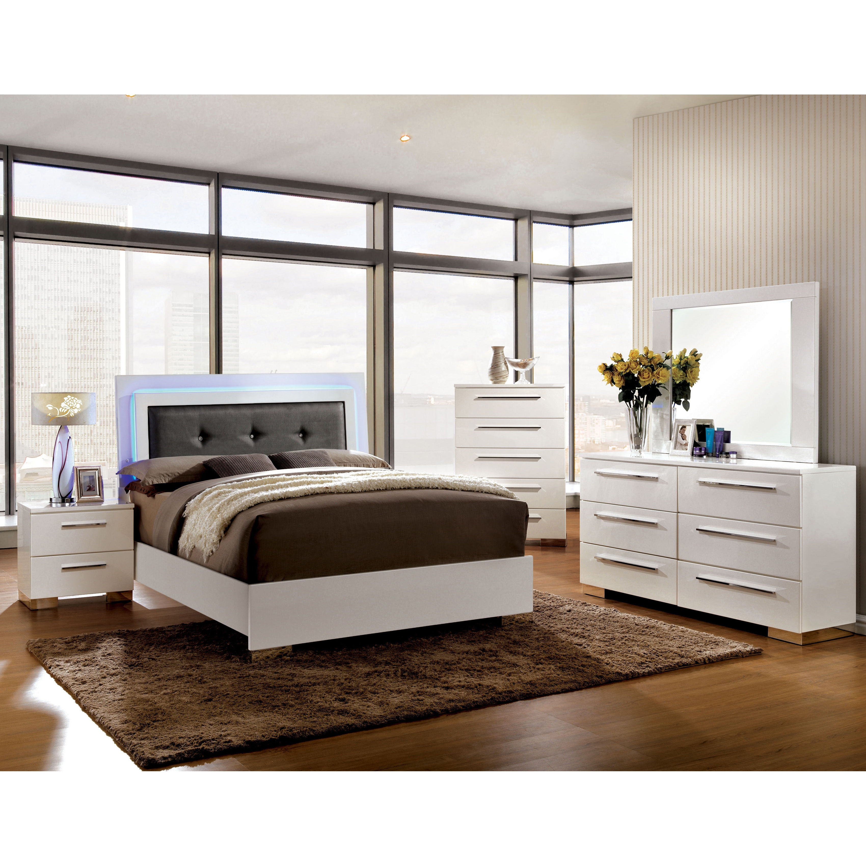 Furniture Of America Rema Contemporary White Solid Wood 5 Drawer Chest On Sale Overstock 11441882