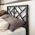 Amisco Windmill Queen Size 60-inch Metal Headboard