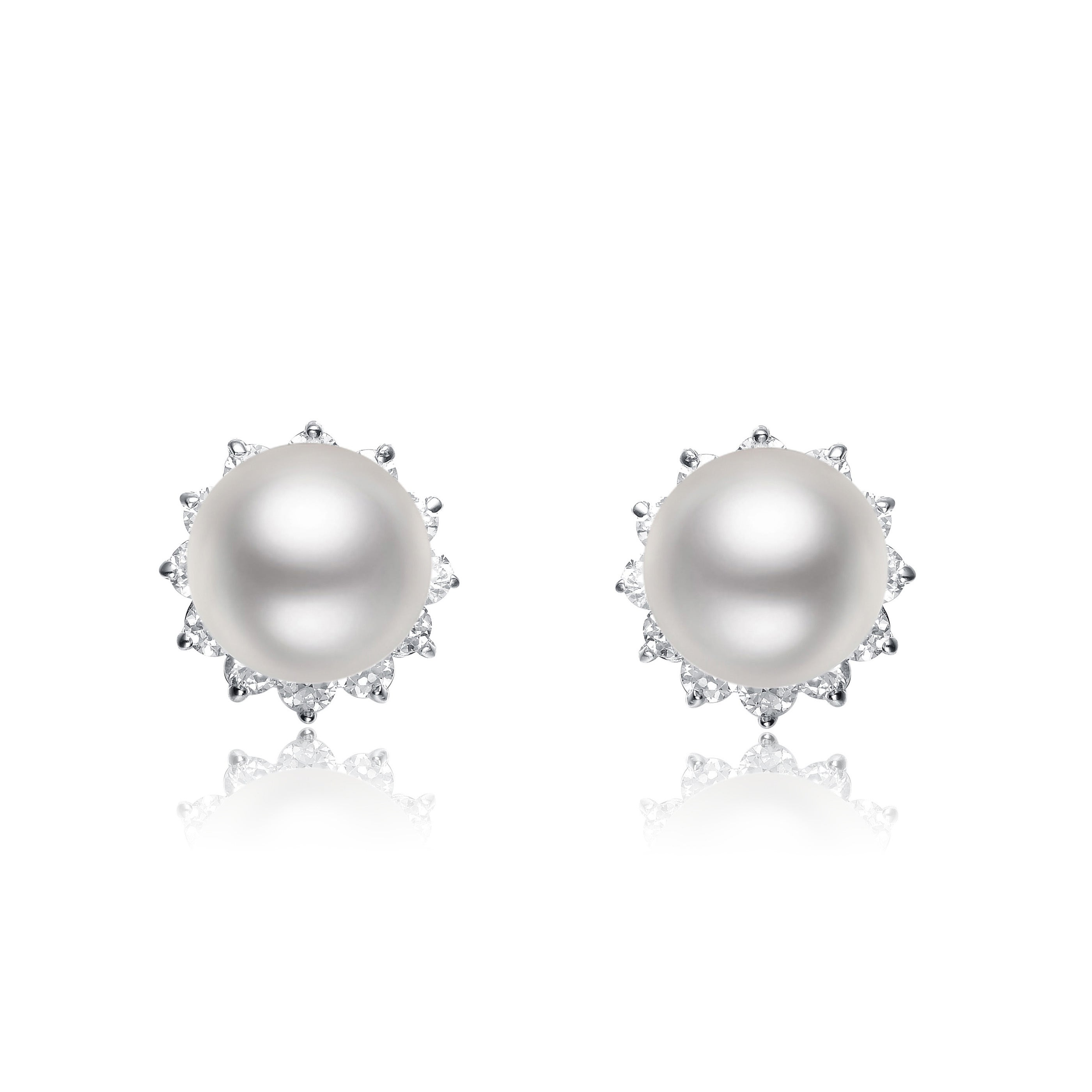 zm earrings knob en kay mv stud sterling kaystore silver diamond