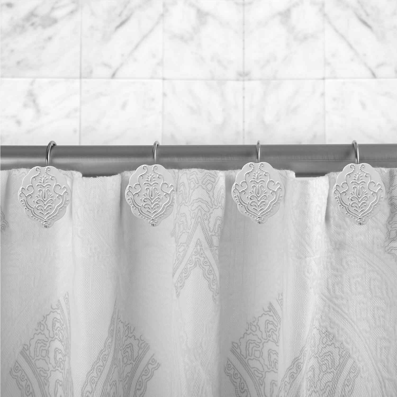 Shop Vintage White Shower Curtain Hooks Set Of 12