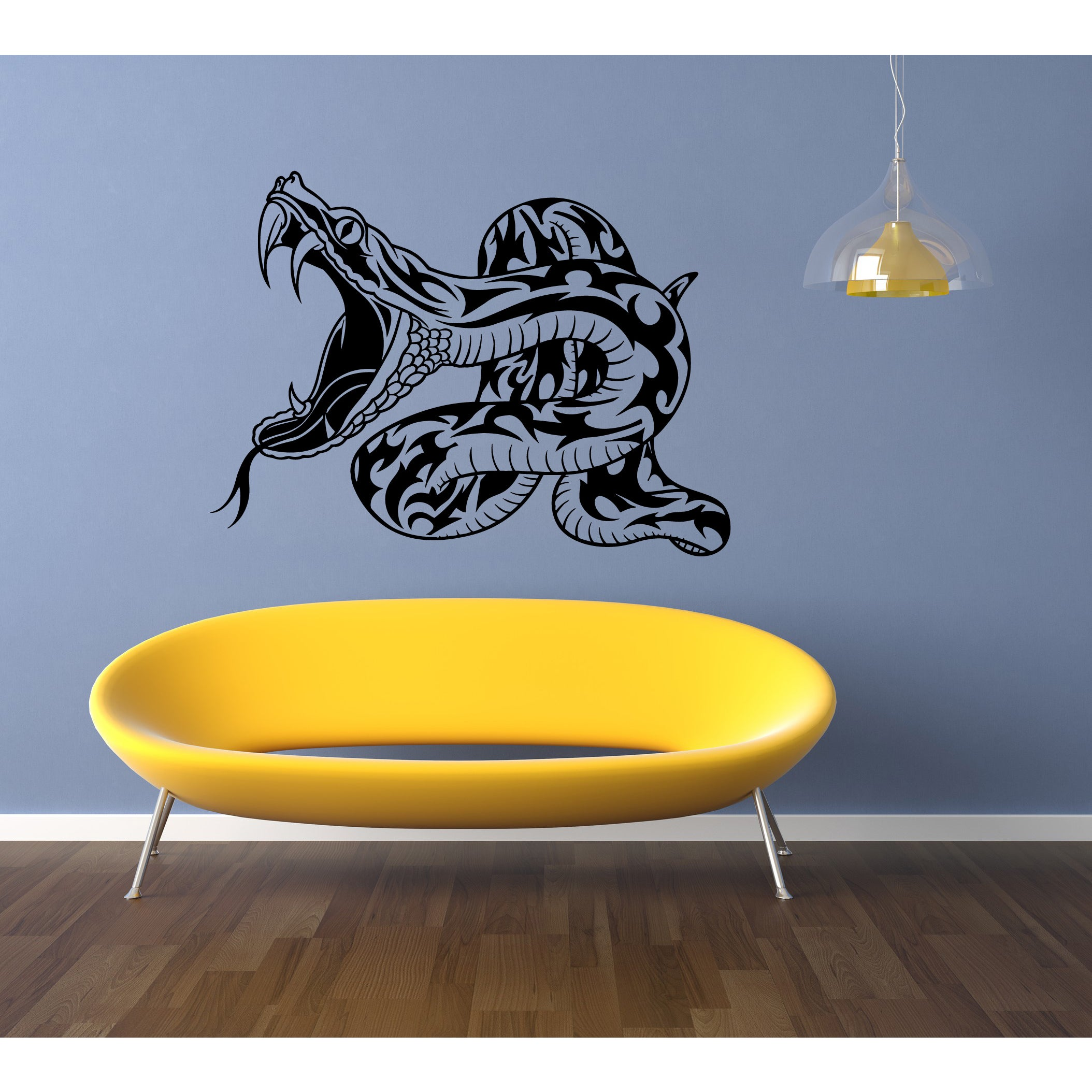 Shop Aggressive Snake Wall Art Sticker Decal - Free Shipping On ...