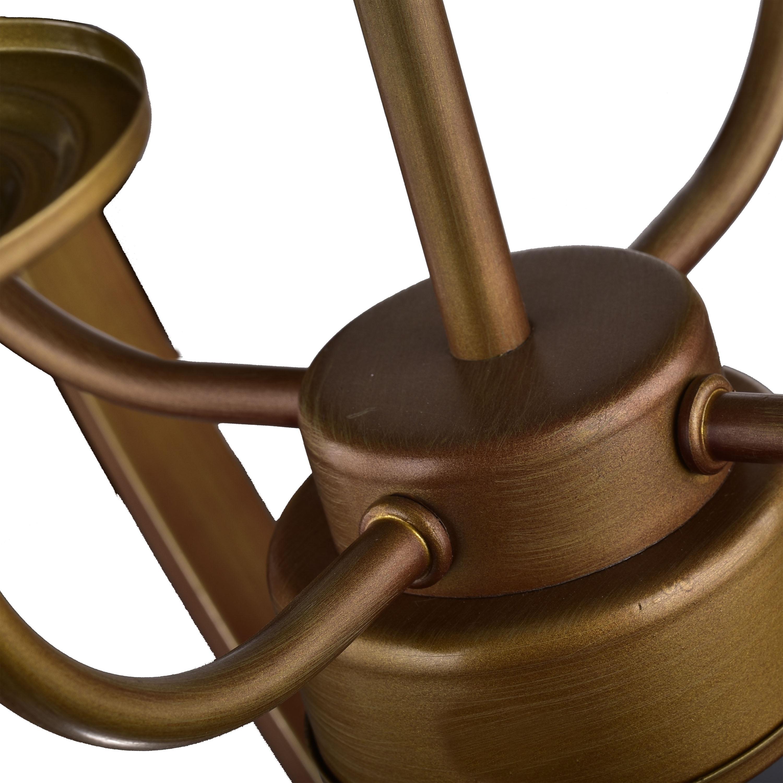 Shop Benita Antique Brass Metal 4 Lights Orb Chandelier - Free ...
