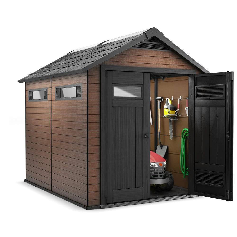 p outdoor plastic big max tans storage sheds x depot shed the large home ft browns rubbermaid