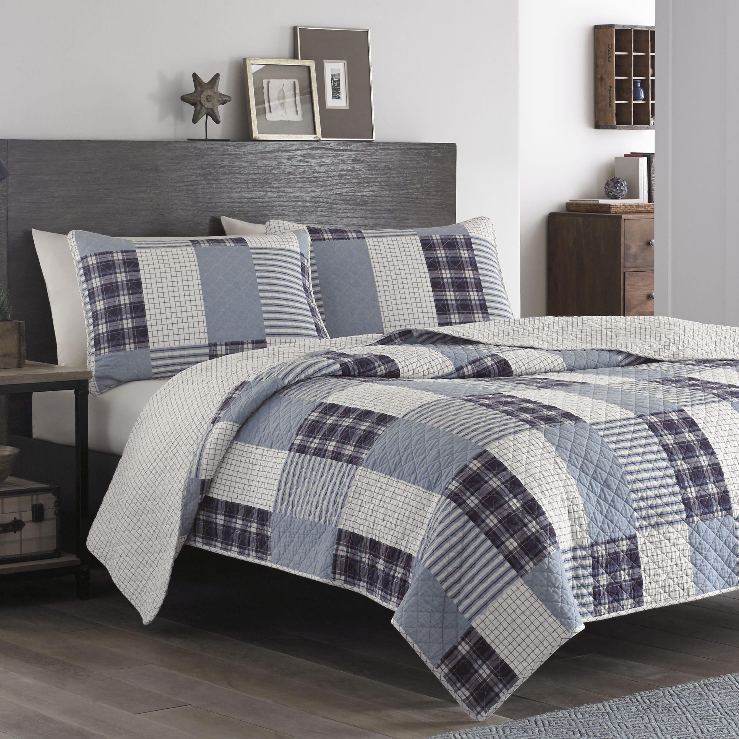 shop cotton fairview alpine quilted at eddie striped bedding bauer bed madrona throw