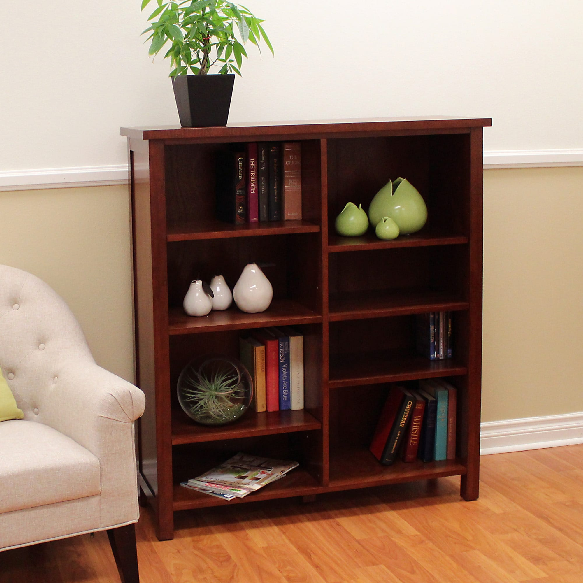 bookcase double bookcases home shipping overstock tierney storage today unit wide garden and wyndenhall century product mid free
