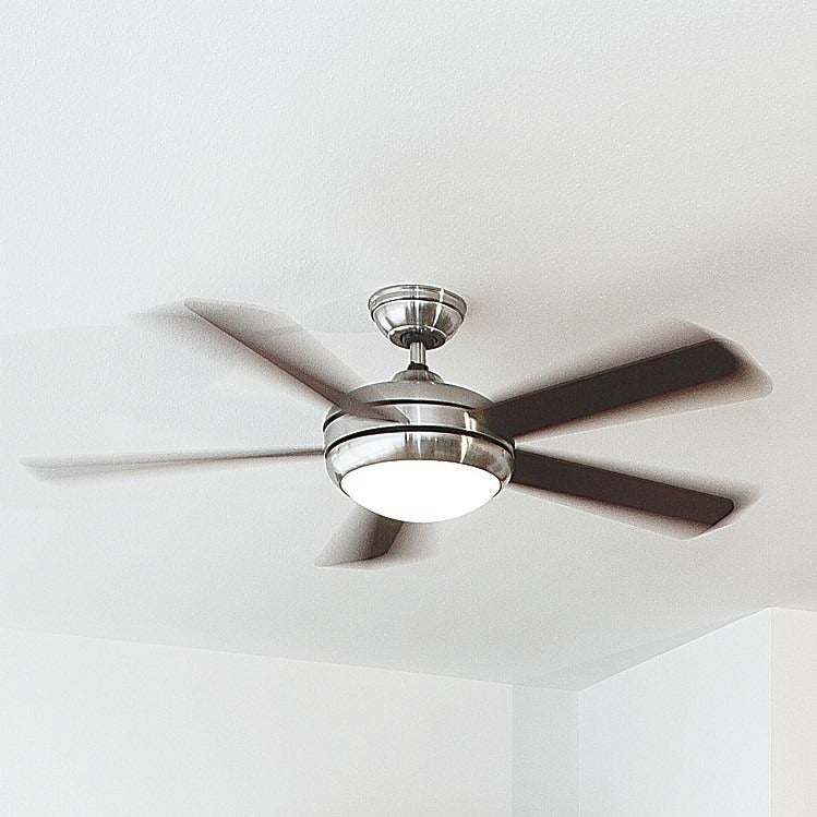 Shop hunter fan palermo 52 inch brushed nickel fan with 5 cherry shop hunter fan palermo 52 inch brushed nickel fan with 5 cherry maple reversible blades silver free shipping today overstock 11452207 aloadofball Gallery
