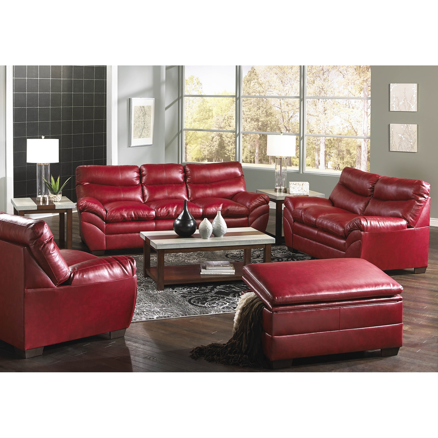 Simmons Upholstery Soho Cardinal Bonded Leather Sofa Free  ~ Simmons Leather Sofa Review