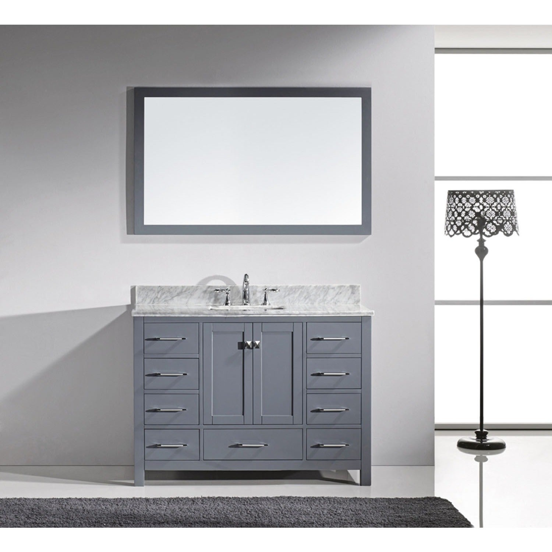 Shop Virtu USA Caroline Avenue 48-inch Grey Single Bathroom Vanity ...