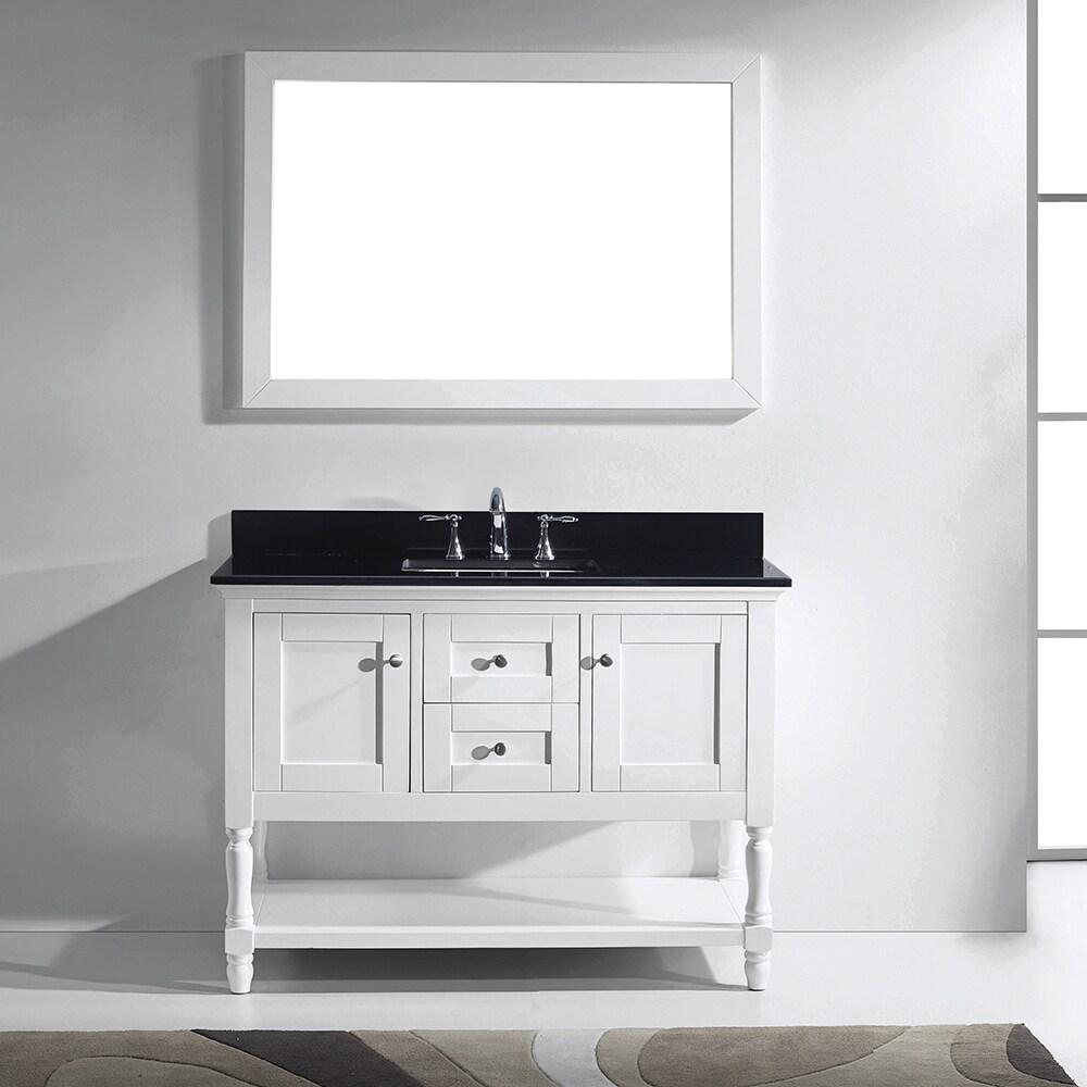 Virtu USA Julianna 48-inch White Single Bathroom Vanity Cabinet Set ...