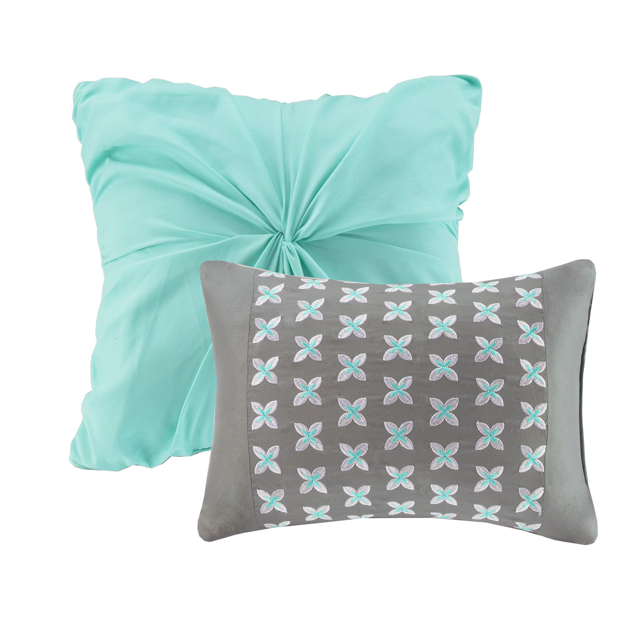 Shop Intelligent Design Lily Aqua Comforter Set Free Shipping