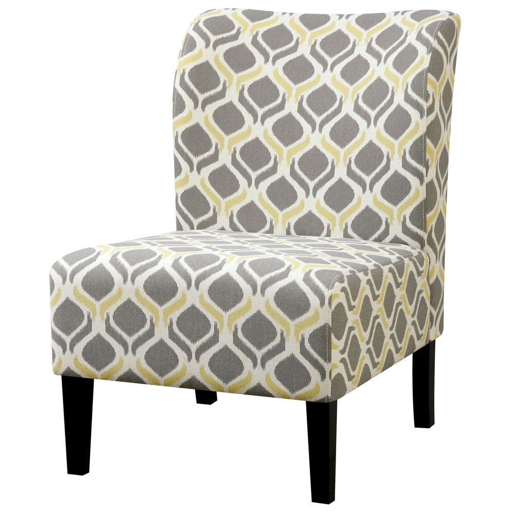 Grey Patterned Accent Chair Unique Inspiration Design