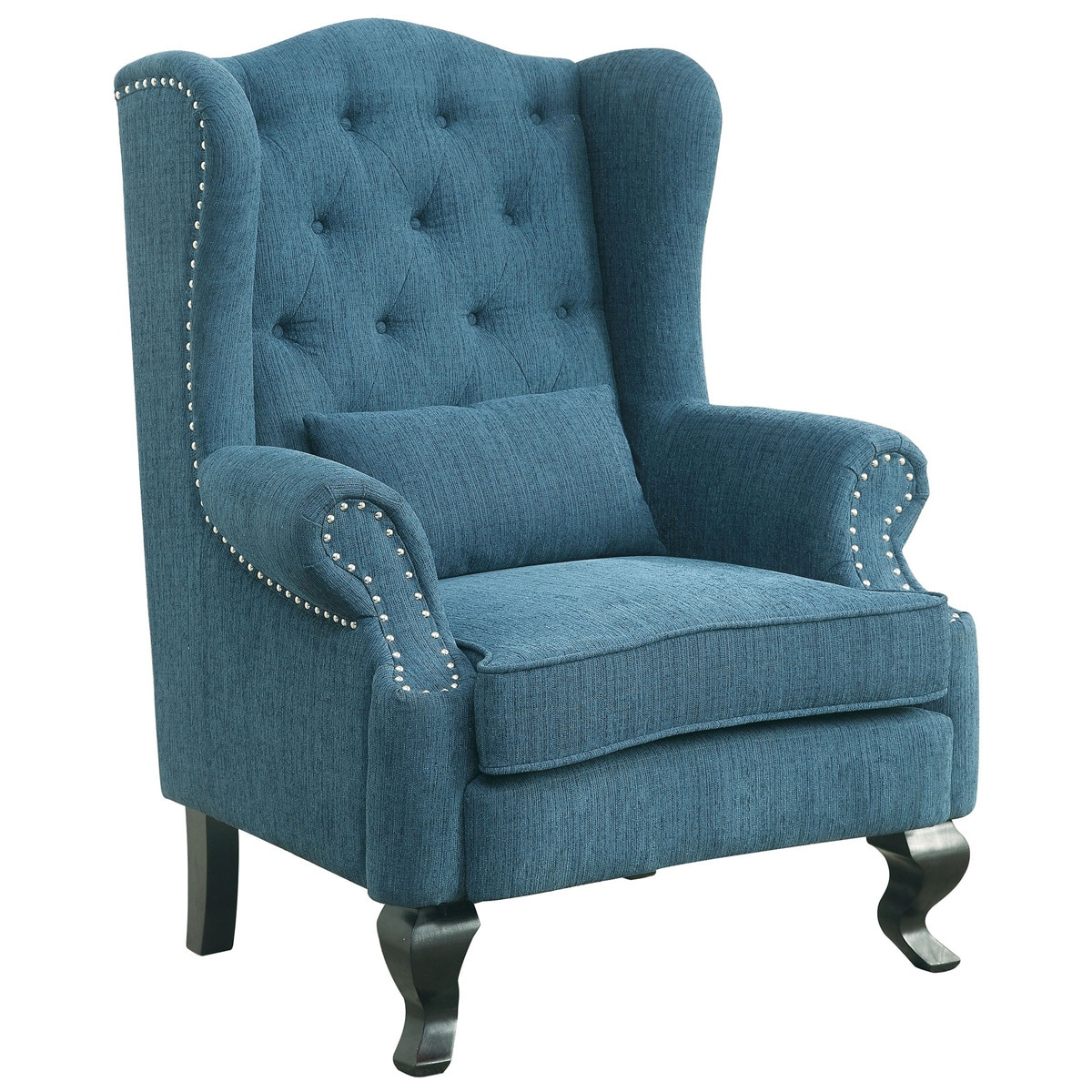 Good Furniture Of America Irving Traditional 2 Piece Tufted Wingback Armchair  And Ottoman Set   Free Shipping Today   Overstock.com   18412743 Great Ideas