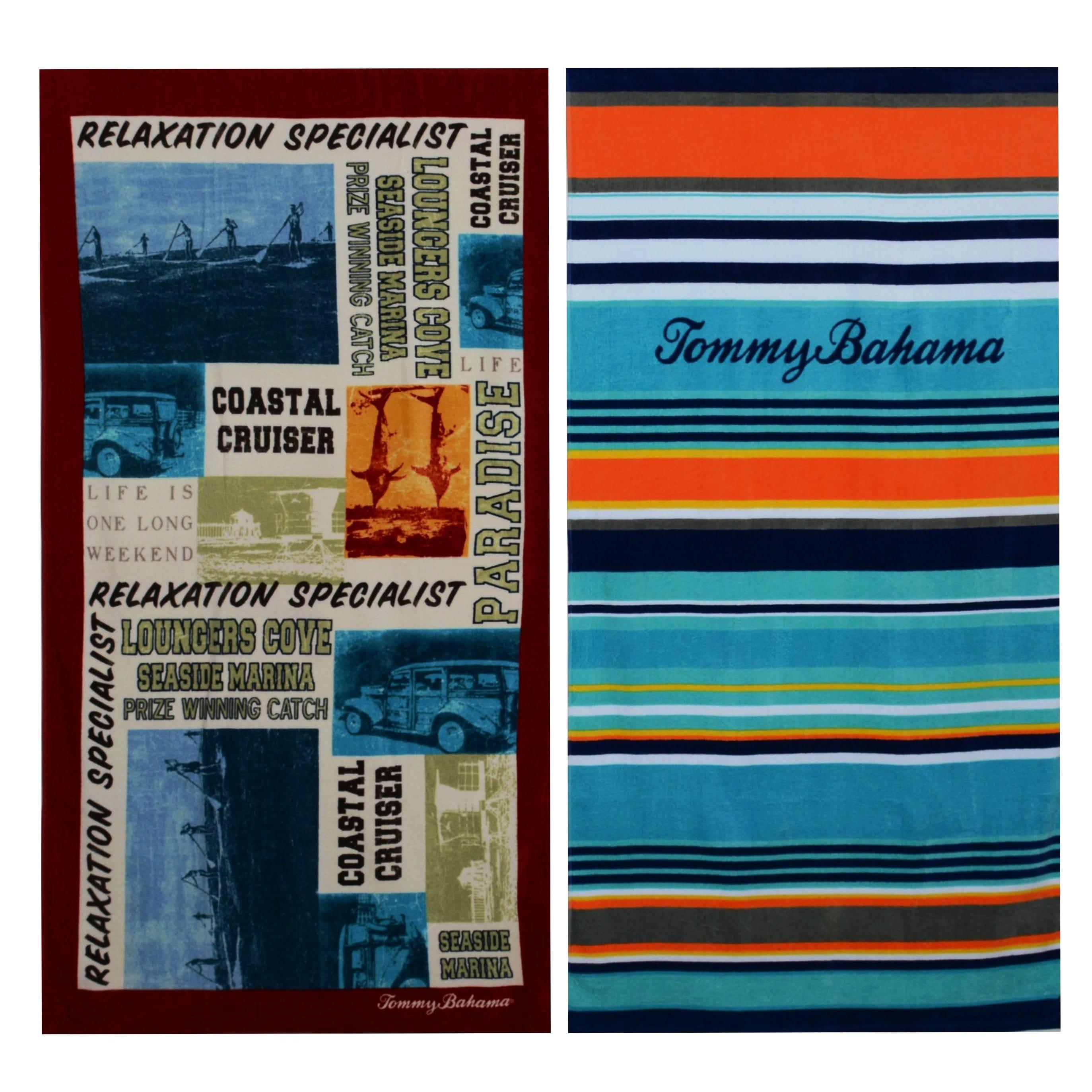 ca62c24601e Tommy Bahama Paddleboard and Pirates Bay Stripe Beach Towel set