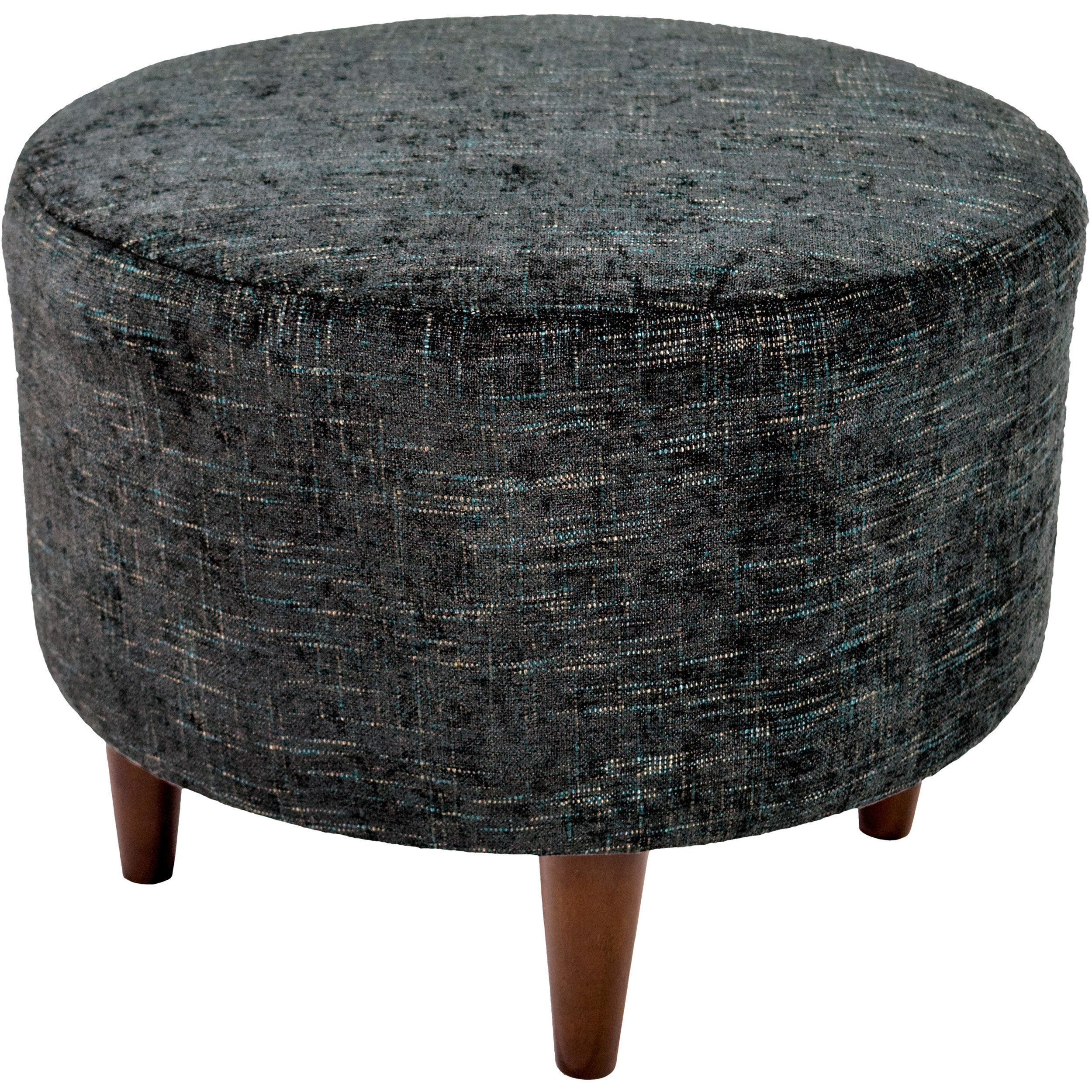 Shop sophia atlas round upholstered ottoman free shipping today overstock com 11458886