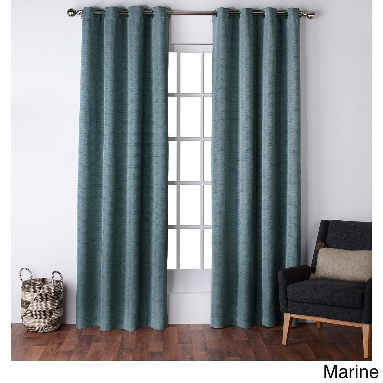 ATI Home Virenze Faux Silk Grommet Top Window Curtain Panel Pair - Free  Shipping On Orders Over $45 - Overstock.com - 18417284