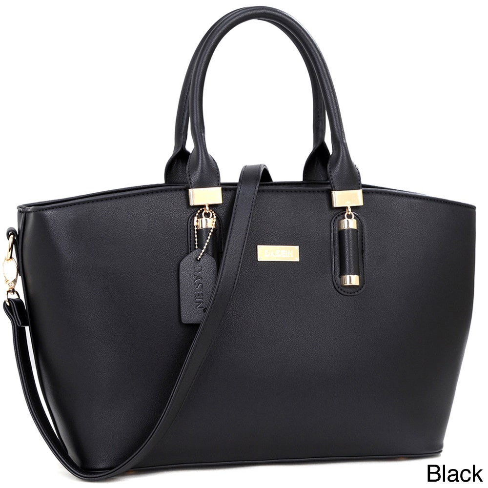 3b642bfc44f2 Shop Dasein Fashion Faux Leather Work Tote Bag - Free Shipping Today -  Overstock - 11459757