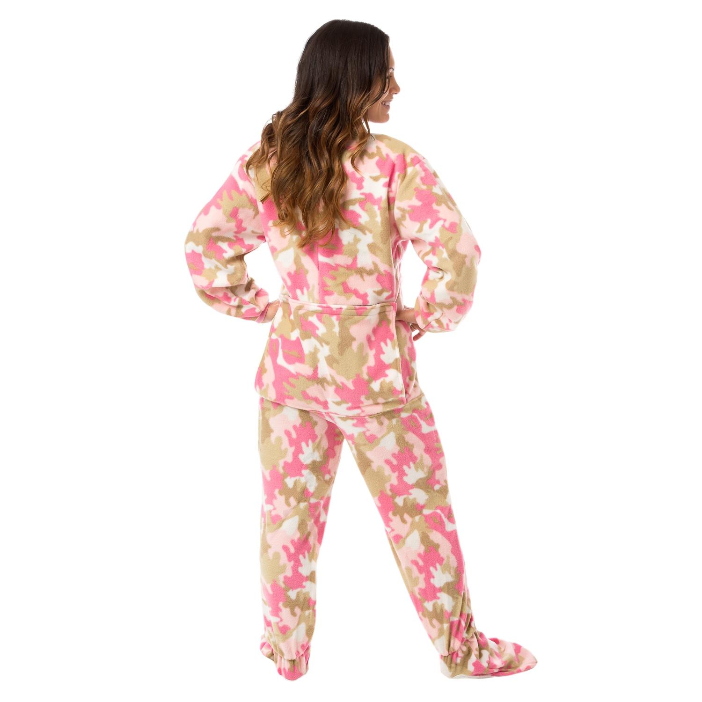 Shop Big Feet Pjs Pink Camo Micro-polar Fleece Adult Footed Pajamas Sleeper  w  Drop Seat - On Sale - Free Shipping Today - Overstock - 11460900 aa34edc0a