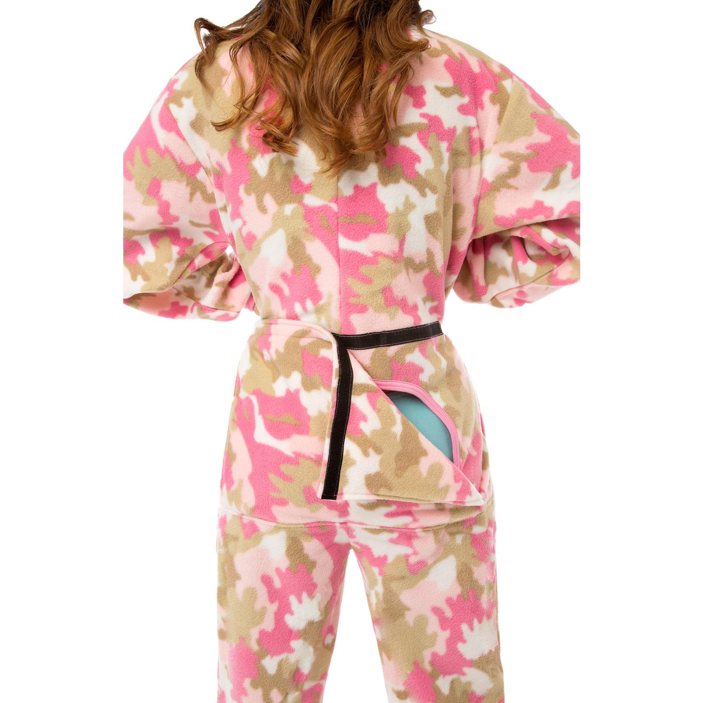 6edd50701 Shop Big Feet Pjs Pink Camo Micro-polar Fleece Adult Footed Pajamas ...