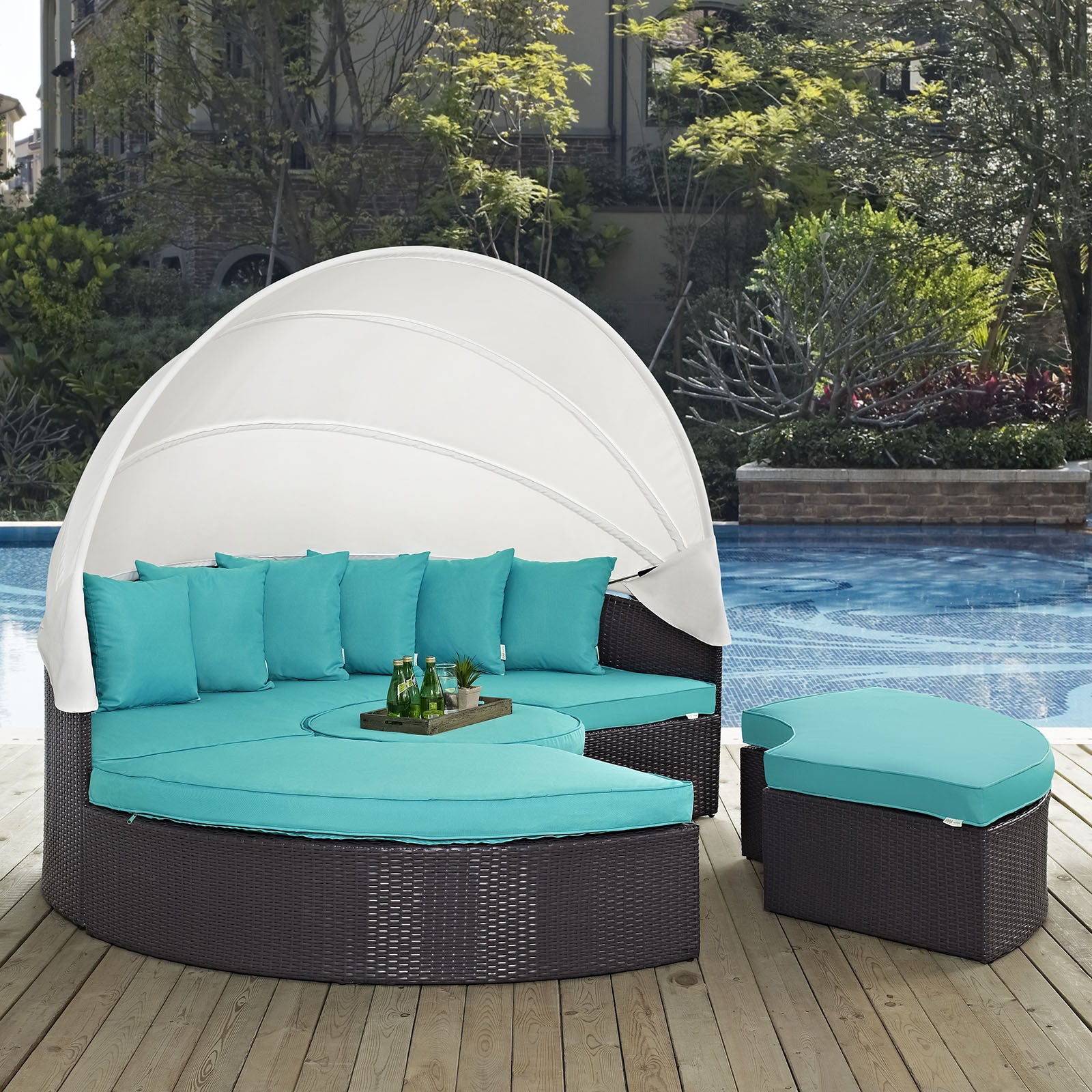 Shop Convene 86 Inch Canopy Outdoor Patio Daybed   On Sale   Free Shipping  Today   Overstock.com   11461084