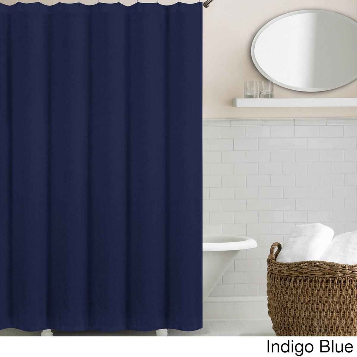 Echelon Home Washed Belgian Linen Shower Curtain - Free Shipping ...