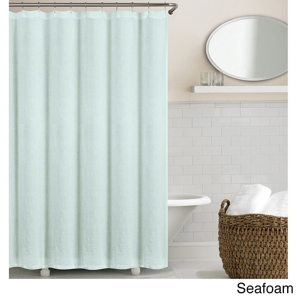 Shop Echelon Home Washed Belgian Linen Shower Curtain - On Sale ...