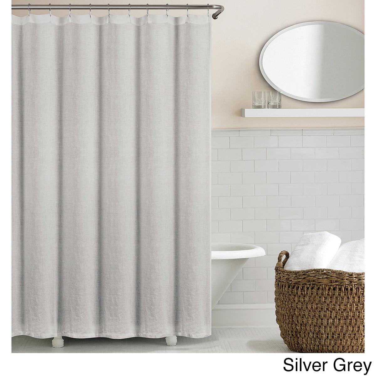 Shop Echelon Home Washed Belgian Linen Shower Curtain