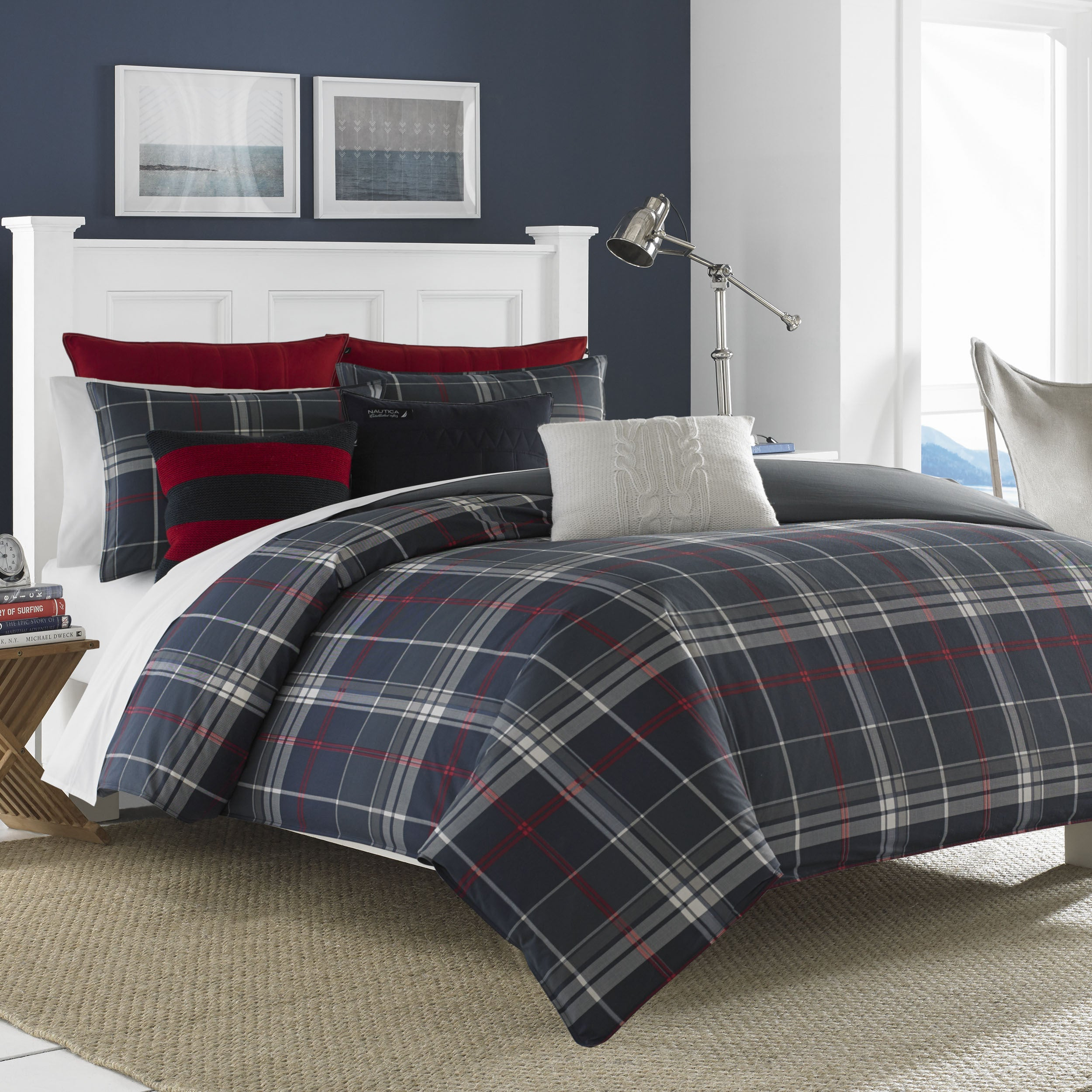 Nautica Booker Navy Cotton Comforter Set - Free Shipping Today -  Overstock.com - 18424182