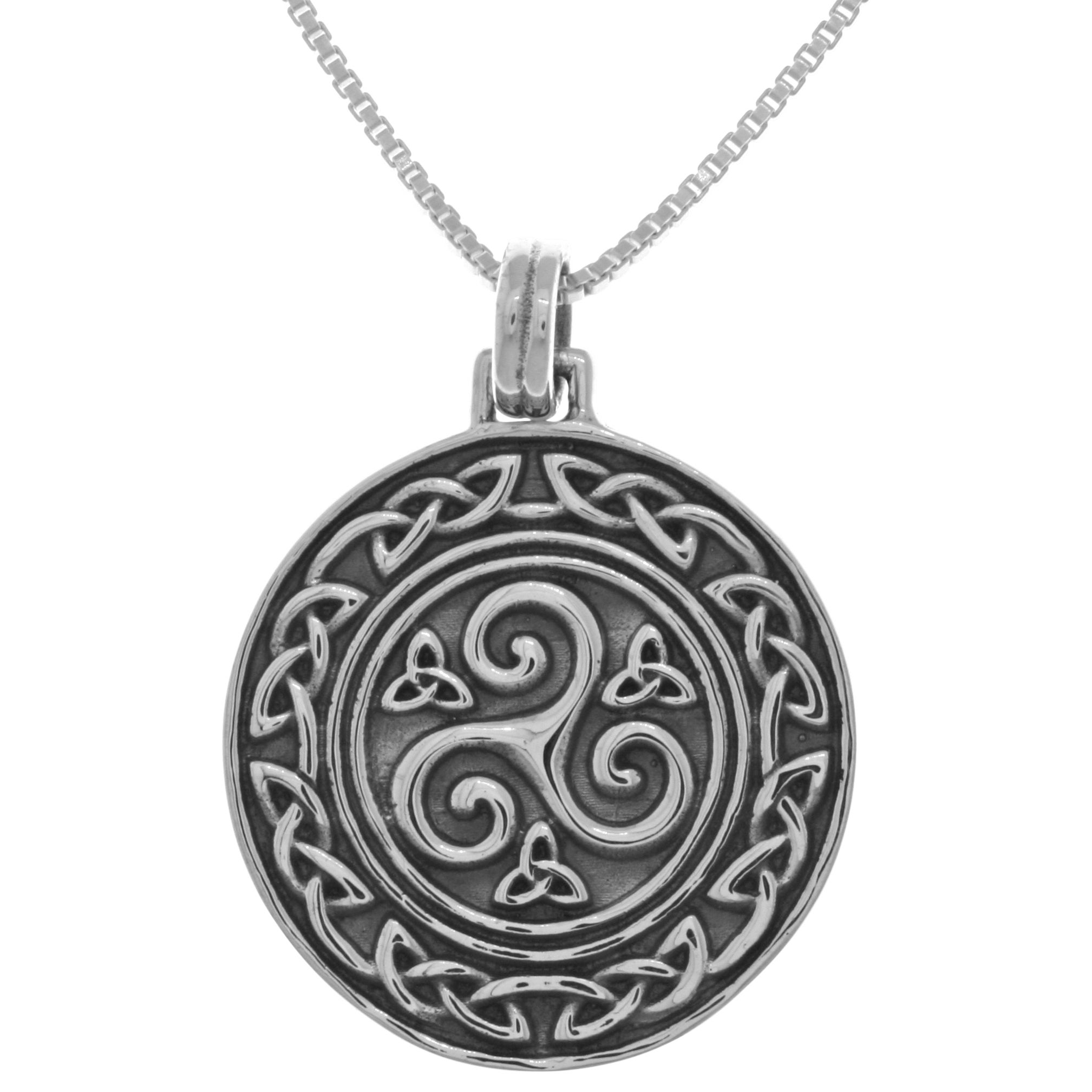 jewelry sterling pendant celtic knot triskele amazon triskelion silver dp com small