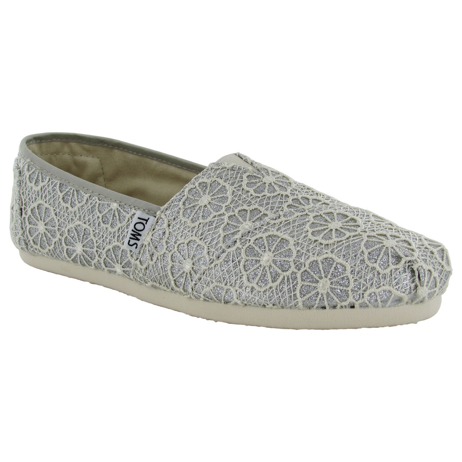 f2bdf59adcf Shop Toms Women s Crochet Glitter Slip On Alpargata Flat Shoes - Free  Shipping Today - Overstock - 11467907