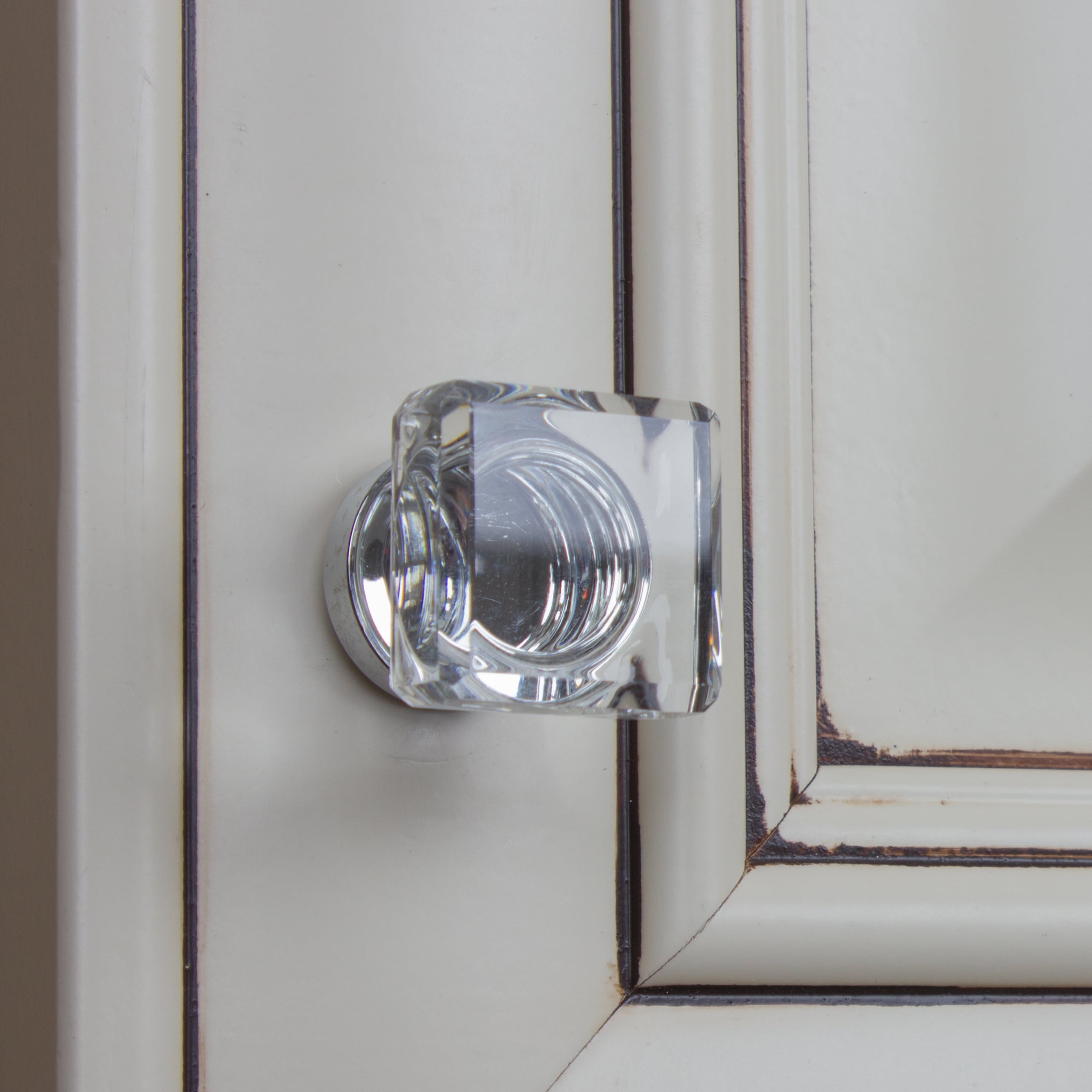 Beau Shop GlideRite 1 Inch Polished Chrome Square Glass Cabinet Knobs (Pack Of  10 Or 25)   Free Shipping On Orders Over $45   Overstock.com   11468064