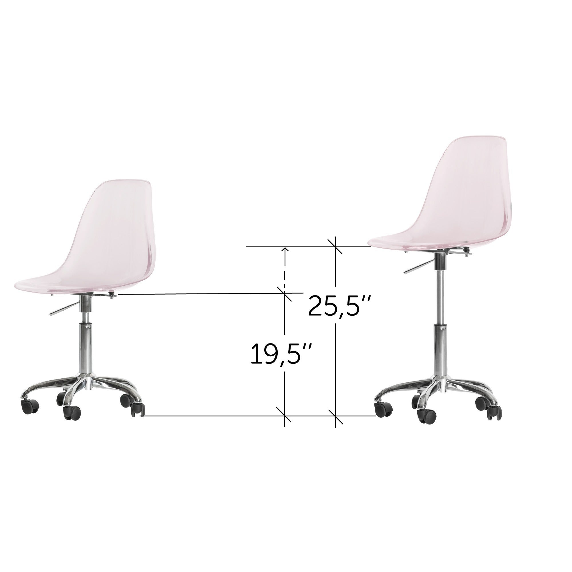 South S Clear Acrylic Office Chair With Wheels Free Shipping Today 11468395