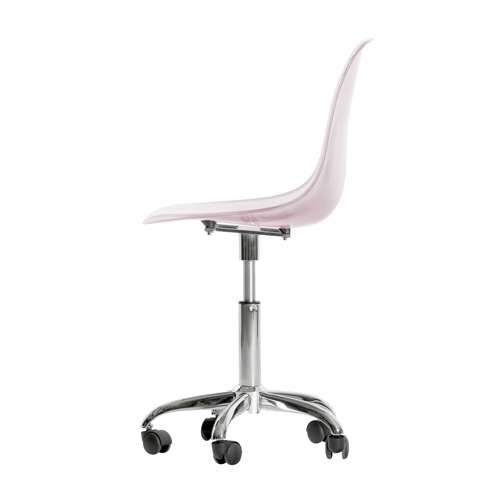 South S Furniture Clear Acrylic Wheeled Office Chair On Free Shipping Today 11468395