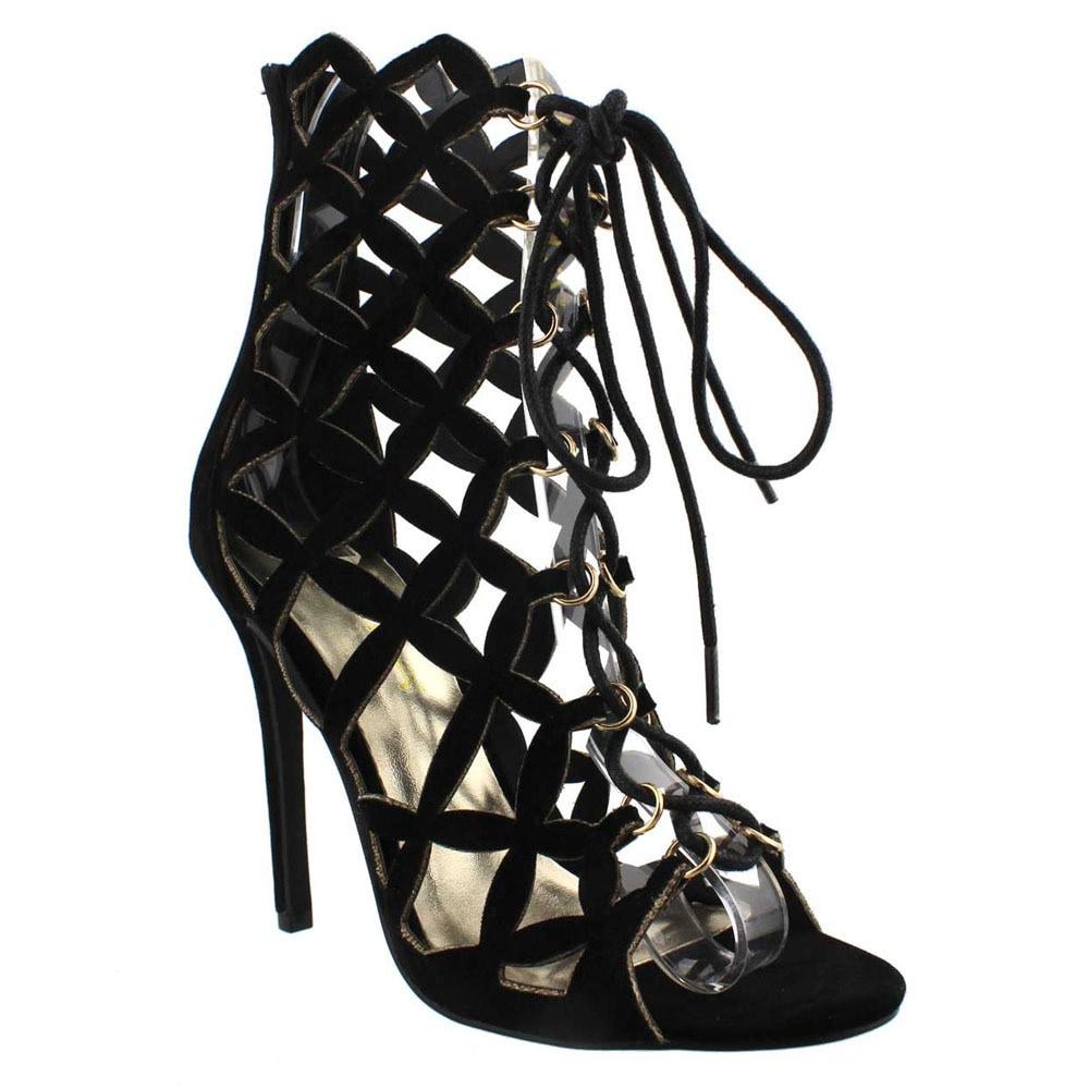 849f544de90 Shop Beston DA100 Women s Cut Out Caged Heels - Free Shipping Today ...