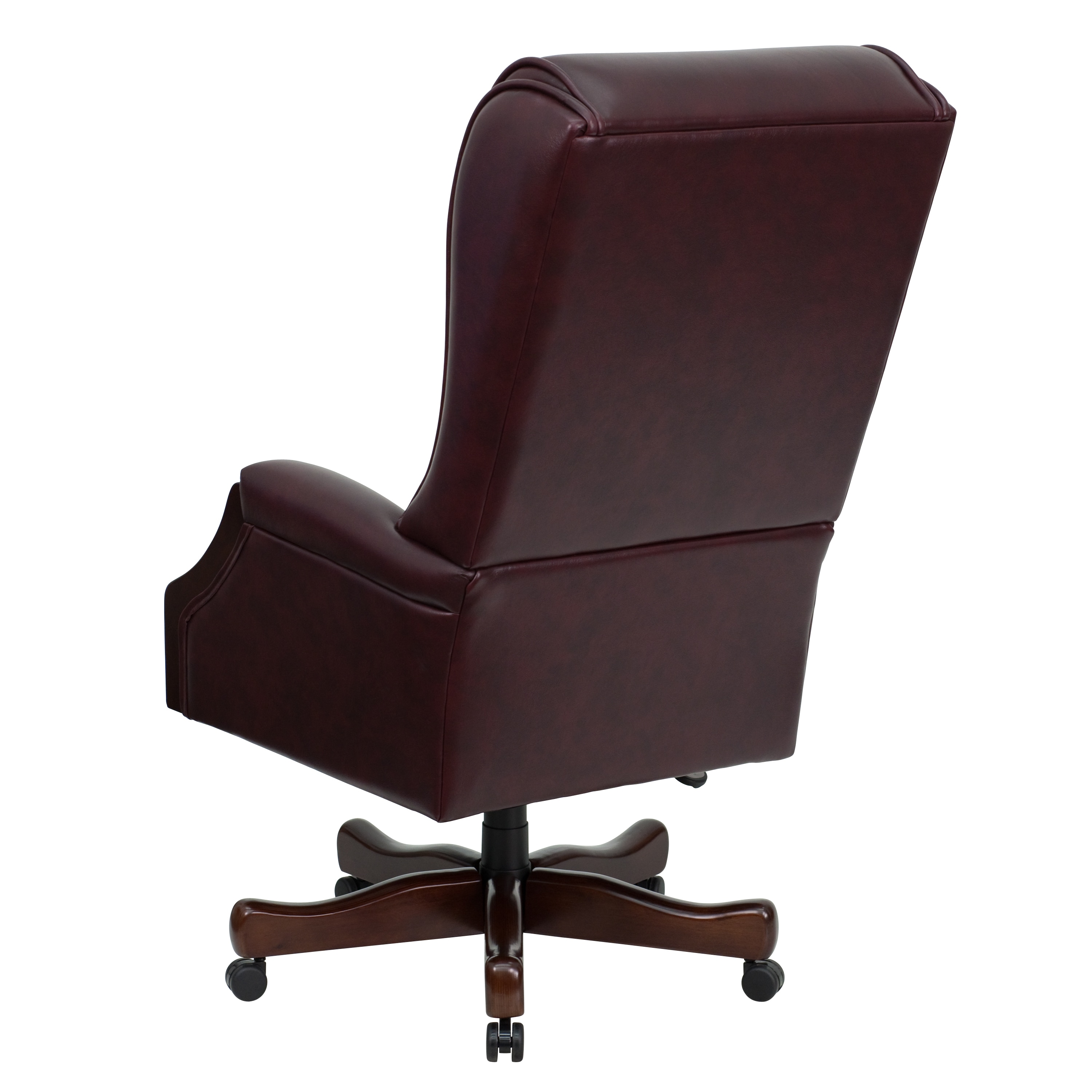 Presidential On Tufted Burgundy Leather Executive Swivel Adjule Office Chair Free Shipping Today 11482734