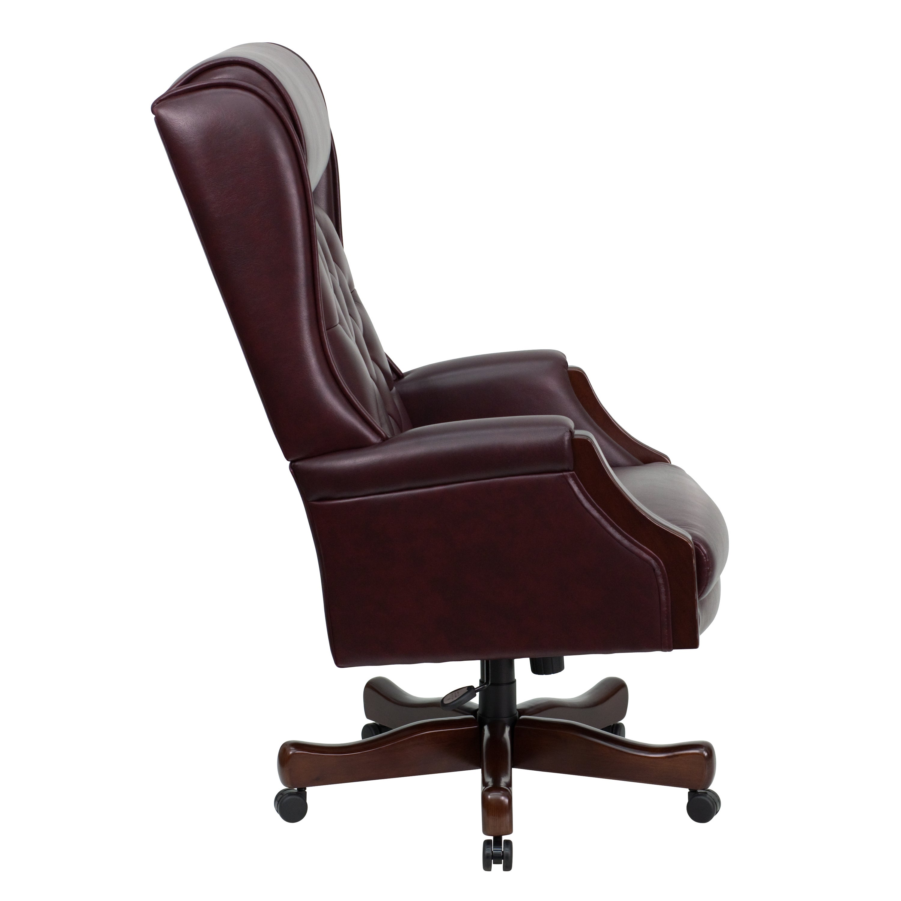 presidential office chair. Presidential Button Tufted Burgundy Leather Executive Swivel Adjustable Office Chair - Free Shipping Today Overstock.com 18437198 C